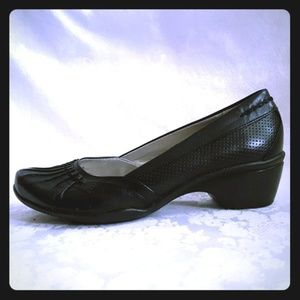Beautiful black leather shoes